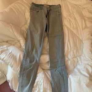 Pacsun high waisted skinny jeans light blue